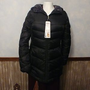 32 Degrees Ultra Light Down Fur Lined Jacket M